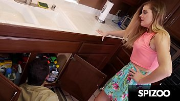 Sexy Cheating Blonde Wife gets Fucked by Plumber's Big Cock