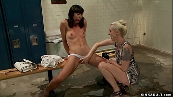 Cheated blonde wife Lorelei Lee found sexy brunette nanny Vivi Marie in the shower and then fisted and anal fucked her while she is squirting