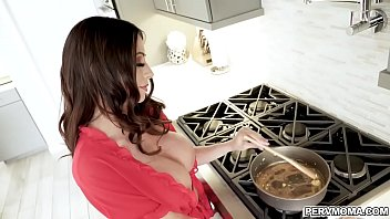 Watch Ariella was sucking his step sons cock on the kitchen! preview