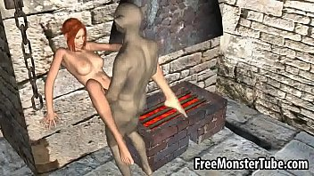 Tasty 3D redhead babe gets fucked hard by a monsterhigh 2