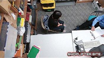 Wild Shoplifting Whore Reality Backroom...