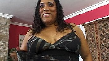 Ebony BBW rides huge black cock
