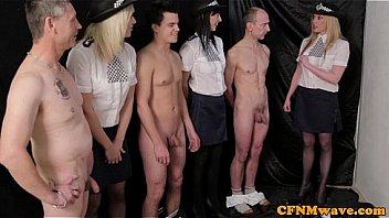 Femdom female police agents humiliate Thumbnail