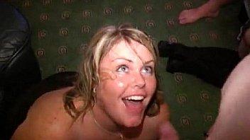 Trinity Bukkake Blonde Glasses Gangbang Porn Min