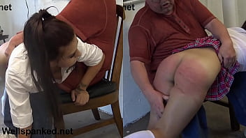Teen hard spanking