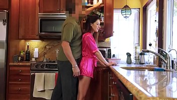Step daddy taking advantage with stepdaughter