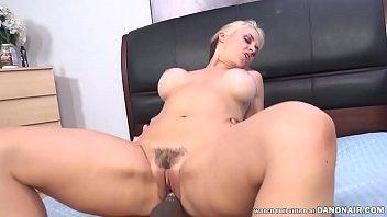 Porn Superstar Sarah Vandella Deepthroats and Huge Black Cock then takes it deep inside her hot, hairy hole!