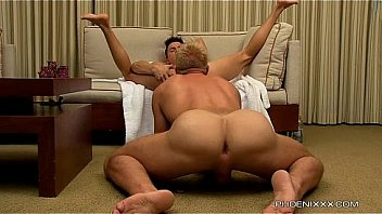 This gay stud receives an intense blowjob from gay muscle