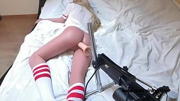 Hot Sex Doll Fucked By Fucking Machine! Nice'n'slow anal! [Part 1] wwwdolltraining.com