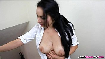 Big Tits Downblouse Cleaner