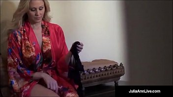 Julia Ann, the world famous Milf, tries on some smoking lingerie! She puts on pantyhose, panties, bras & more!