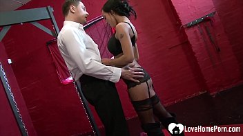 Once he turns her on while she is bound, she will suck him off.