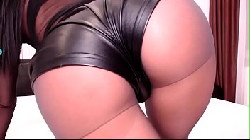 Worship my big ass in this leather panty loser- watch part 2 at www.Camkandy.com