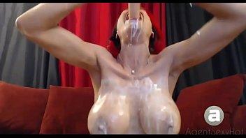 Deep Throating a dildo