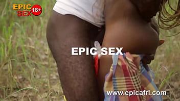 Ebony Threesome with A Mad Woman