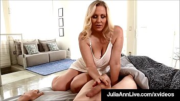 Watch Gorgeous Milf Julia Ann, wakes up her step son with an soft early handjob, using her oiled up hands to stroke his young dick until he cums for Mommy! Full Video & Julia Ann Live @ JuliaAnnLive.com! preview