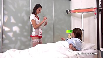 Miky Love and Kate Hill - kinky nurse and pissy patient