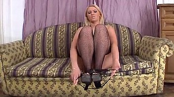 Hot blonde gets fucked and double-penetrated by two big cocks HC-17-01
