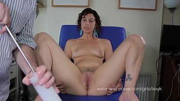 Watch Suffering through her first enema preview