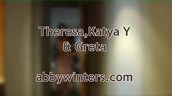 Theresa Greta Katya threesome at Abby Winters 1/4