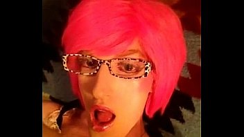 Pink Self facial  - Crossdresser sissy Fay
