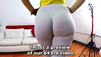 Watch Big Bubble Butt In Tiny Thong & Tight See-Through Camel-toe Pants Fiona preview