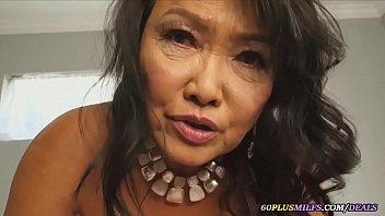 asian granny loves big cocks