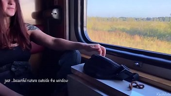 Amateur fuck in train with my redhead wife KleoModel