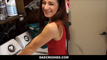 Young And Petite Stepdaughter Avery Moon Fucked On Washing Machine By Horny Stepdad POV