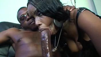 Ebony bitch needs a huge black cock
