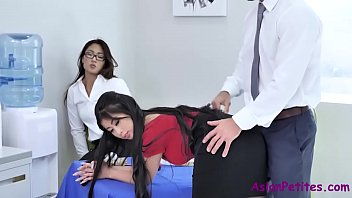 Office fuck with asian sluts