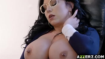 big tit brunette in glasses fuck