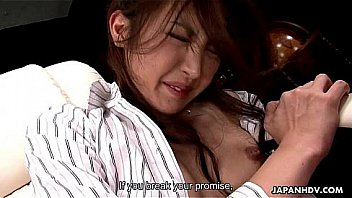 Tied up Japanese slut enjoys kinky sex toys