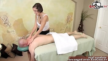 skinny amateur milf seduced patient at erotic massage  with her small tits