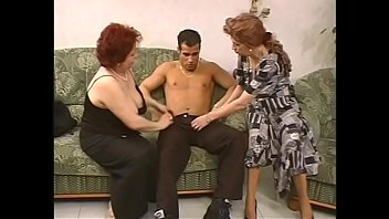 Four mature women fool around with horny well stuffed y. dudes