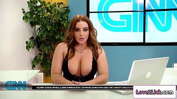 Whitney Wright licks and fingers news anchor Natasha Nices pussy