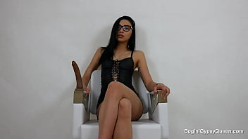 Smart and pretty girl with glasses spreads legs in front of your face. Grab your cock and start jerking now!