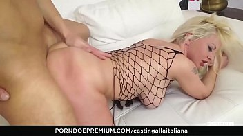 CASTING ALLA ITALIANA - Naughty anal sex for busty blonde in her first audition