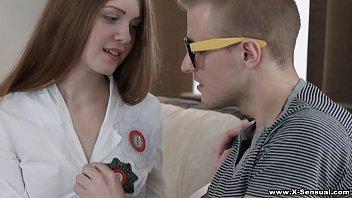 X-Sensual - Seducing nerdy Nancy tutor