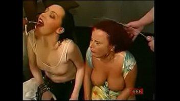 Huge tits redhead takes piss bukkake