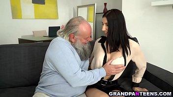 Horny grandpa fucks Henna Ssys 18yo pussy