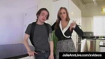 Big Boobed Milf Julia Ann, shoves her strapon_cock into her boytoy's tight ass, pegging him as payback for being disrespectful! Full Video & Julia Ann Live @ JuliaAnnLive.com! Thumbnail