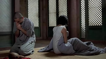Young monk steals forbidden fruit