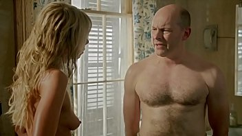 Guy walks in to find his wife's sister taking a shower. He thinks it's his wife at first.  She is totally naked, but doesn't care.  Shaved cunt, nice tits.from Hell Baby (2013)