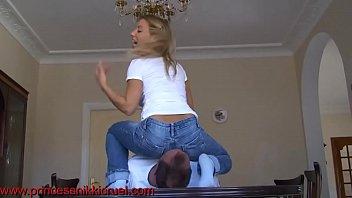 PrincessNikkiCruel - jeansittingclip HD 720p