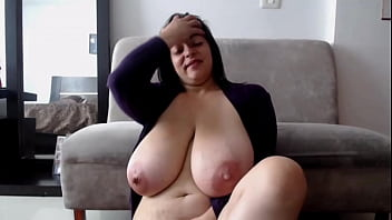 Sexy MILF Playing with Her Huge Natural Tits Thumbnail