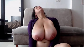 Sexy MILF Playing with Her Huge Natural Tits