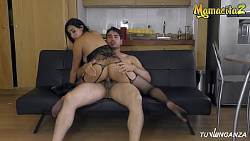 MAMACITAZ - #Anette Rios - Crazy Colombian Brunette Takes Daddy's Cock From Behind