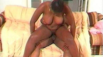 Big black slut rides some black guy Thumbnail