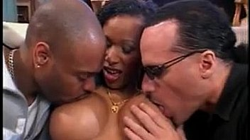 Busty Ebony Slut Being Double Penetrated
